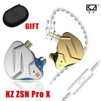 NEW KZ ZSN Pro X Wired Headset With Mic ZSN Pro Hybrid Metal Stereo Bass In-Ear Earphone Monitor Sports Headset Gamer for Xiaomi original xiaomi hybrid pro hd earphone in ear hifi earphones mi piston 4 with mic circle iron mixed for redmi pro note3 mi5 page 6