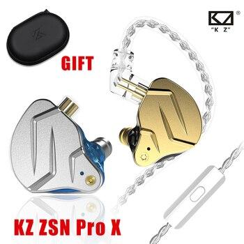 NEW KZ ZSN Pro X Wired Headset With Mic ZSN Pro Hybrid Metal Stereo Bass In-Ear Earphone Monitor Sports Headset Gamer for Xiaomi