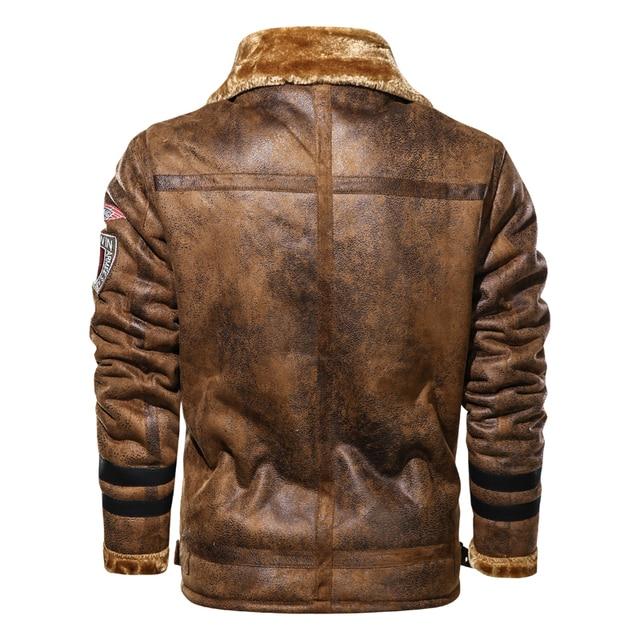 Large Size 5XL Sheepskin Slim Aviation Genuine Leather Bomber Jacket Men Real Leather Flights Jacket Black Aviator Pilot Coats 4