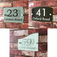 Customize HOUSE SIGN PLAQUE personalised address house door number street name acrylic