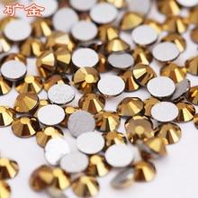 Nail Sticker rhinestone SS3-SS34 Super Flash Flat Bottom Rhinestone Gold Jewelry Accessories