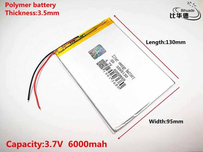 لتر الطاقة بطارية جيدة كوليتي 3.7V ، 6000mAH 3595130 بوليمر ليثيوم أيون/بطارية ليثيوم أيون ل اللوحي البنك ، GPS ، mp3 ، mp4