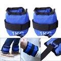 Mais novo 1 kg corpo construção faixas de resistência d-ring tornozelo cinta fivela ginásio multi coxa perna tornozelo punhos de levantamento de peso de energia fitness