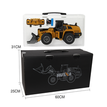 Huina 1583 1:14 2.4Ghz 10 Channel metal rc bulldozer Model for kids Remote Control Toys for Boys Bulldozer Alloy RC Truck(China)