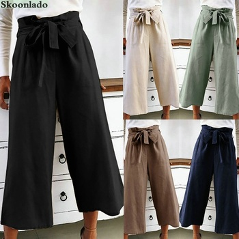 newest women cotton linen pants long solid color special original oversea design famous brand style lady trousers