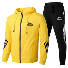 2021 new brand men's spring suit zipper hoodie + pants two pieces of casual sportswear men's sports brand clothing sports men