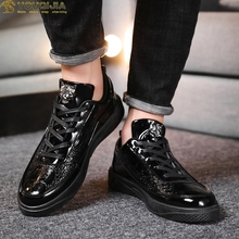 YOUQIJIA Men Casual Shoes Breathable Lace-Up Leather Black White Flat Shoes High-low Top Couple Sneakers Tenis Masculino Adulto zanvllchy men shoes 2018 summer soft breathable men casual shoes lace up high quality couple flat mesh ultra boost tenis shoes