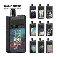 Magic Shark Fashion English Words Beautiful Landscape Sticker Cover Film Case Skin for Frenzy KIT Vape Pod new smok slm stick thick vapor pod vape kit 250mah electronic cigarette kit small vape pen kit vs smok nord drag nano minifit