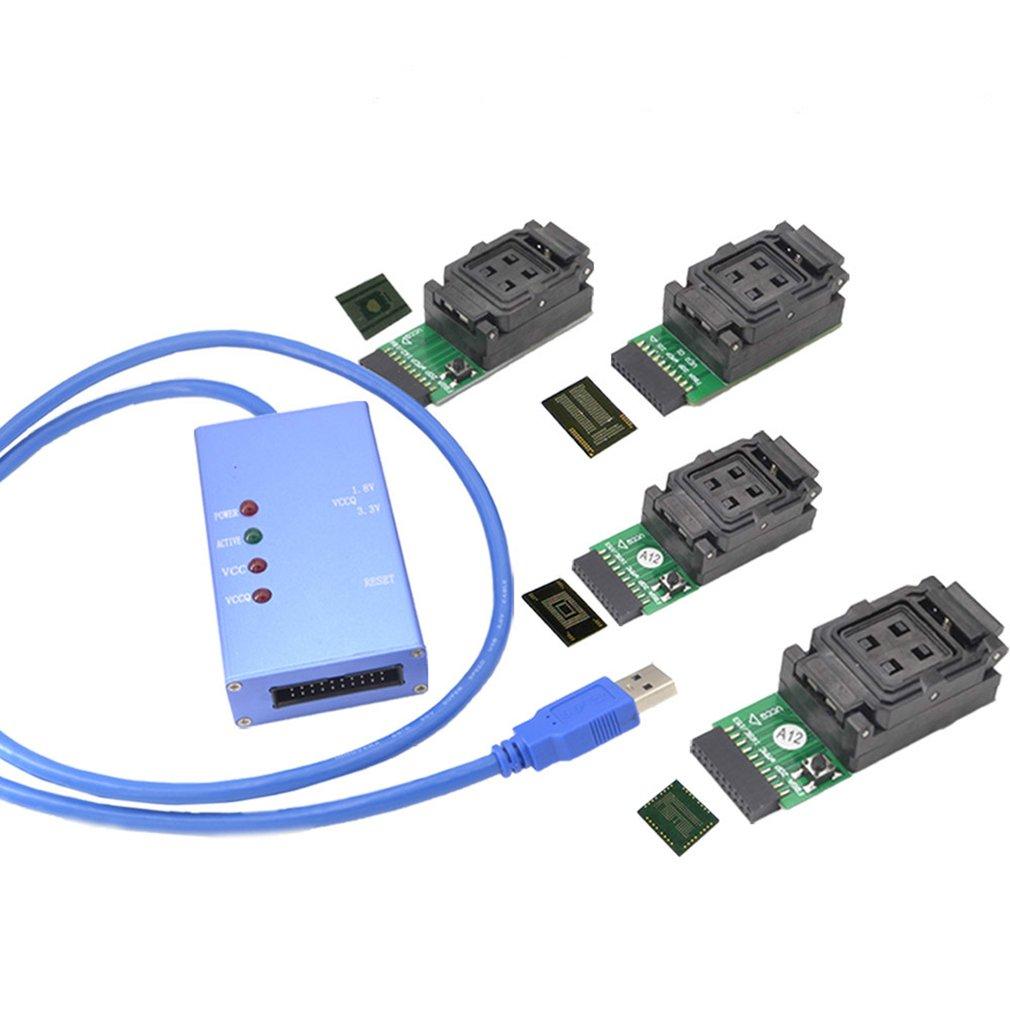 Emmc153 169 Emcp162 186 Emcp221 Emcp529 Socket 6 en 1 outils de récupération de données pour Android Phone Emmc programmeur Socket