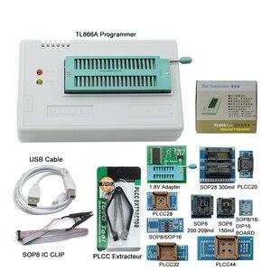 Image 5 - Kit programador, 100% original novo v10.27 tl866ii plus universal minipro + 28 adaptadores + clipe de teste tl866 pic bios de alta velocidade programador