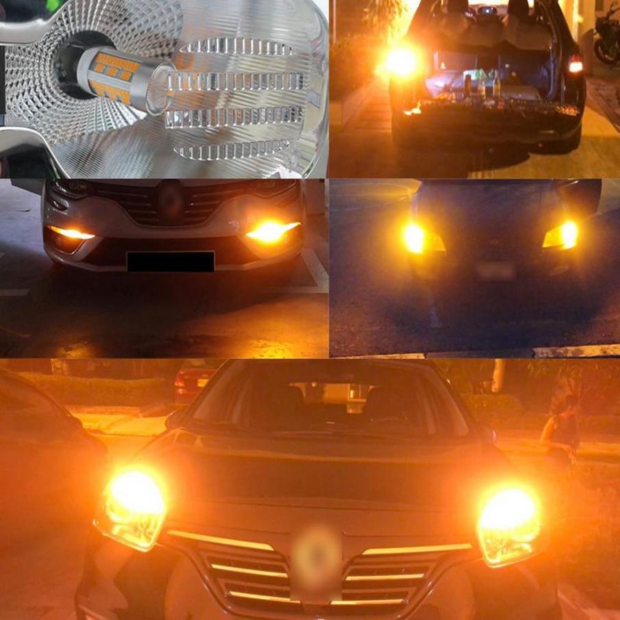Amningpu 2x сигнальная лампа 7440 wy21w w21w led canbus t20