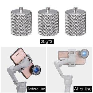 Image 3 - Contrepoids Ulanzi 60g pour Dji Osmo Mobile 3 contre poids pour le cardan de lentille grand Angle de lentille anamorphique de Moment déquilibrage
