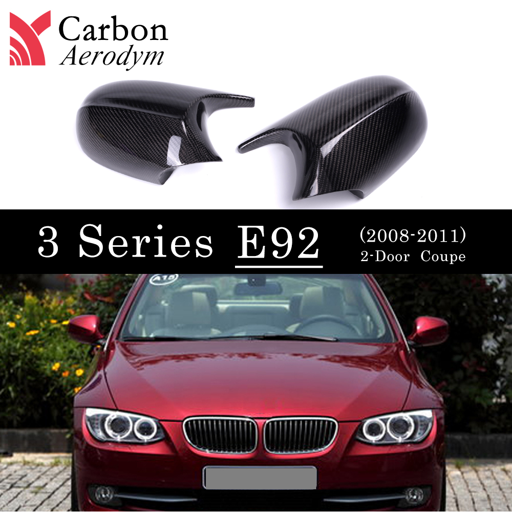 Real Carbon Fiber Mirror cover For BMW E90 E91 2009-20011 M-Look Rearview Cap 3 Series  E92 E93 LCI 2010-2013