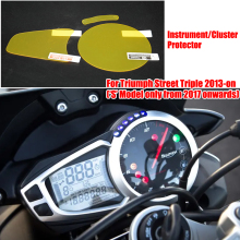 Instrument Cluster Scratch Protection Film Screen Protector for Triumph Street Triple 2013-on 'S' Model only from 2017 onwards