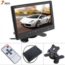 HD 800 x 480 Super Thin 7 Inch Color TFT LCD 2 Channels Video Input Car Rear View Monitor New
