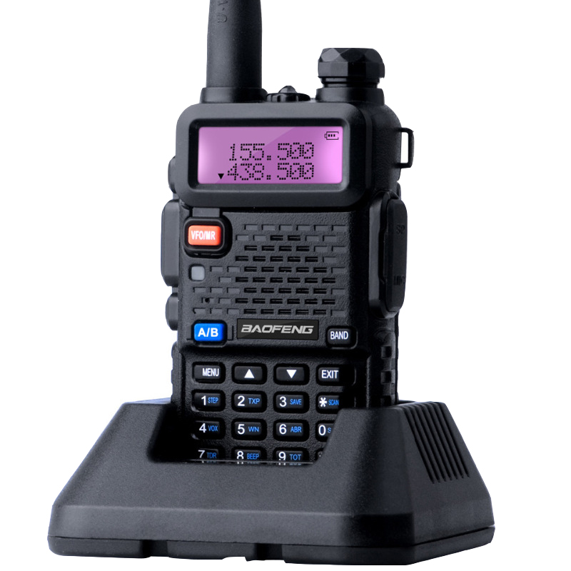 Baofeng UV-5R Walkie Talkie Mini UV 5R CB Radio Station Dual Band UHF VHF Portable Ham Two way Radio Comunicador UV5R BF-UV5R image