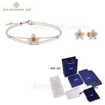 2020 Fashion SWA New ORANGE LILY Petal Set Rose Gold Flower Softness Three-Dimensional Petals Decoration Women Romance Gift