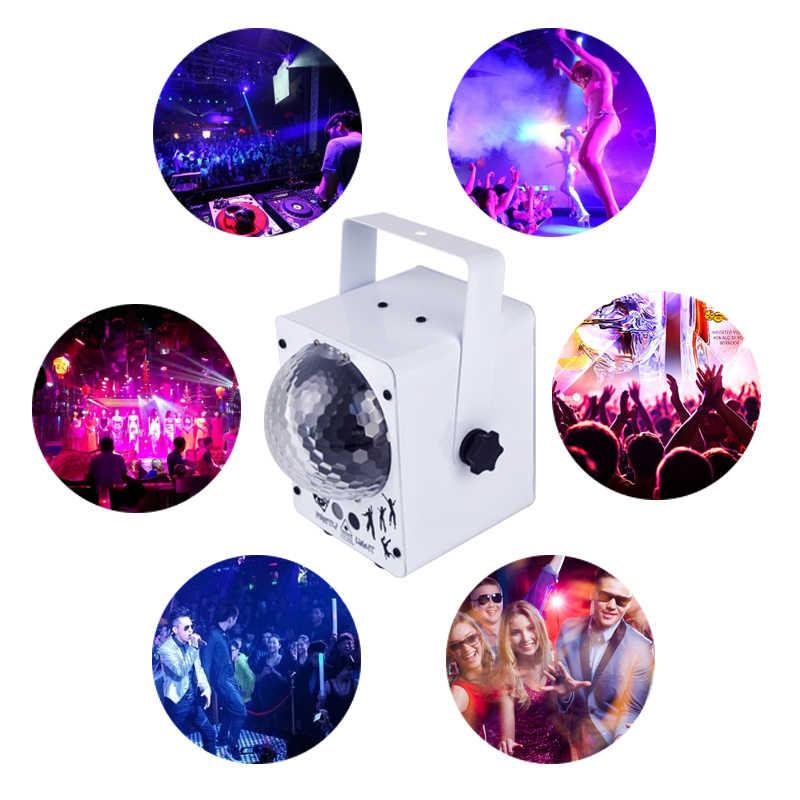 YSH Kristall Magic Ball Laser Projektor Sound Aktiviert RGB Bunte Party Lichter 60 Muster Weihnachten Urlaub Dekoration Licht