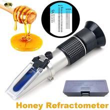 Escala da água 3in1 de baume 12 90% para o verificador do mel do medidor do açúcar do apicultor refratômetro atc 58 27% brix 38 43 ° do mel
