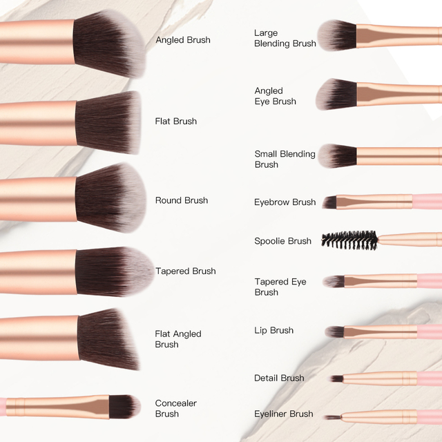 14Pcs Fashion Makeup Brushes Set Eye Shadows Powder Foundation Cosmetics Beauty Soft Hair Maquiagem Brushes Tool Kits 2
