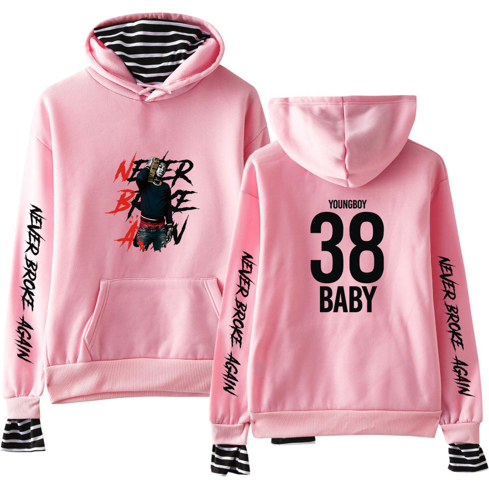 YoungBoy Never Broke Again Fake Two Pieces Hoodies Men Women Hot Fashion Autumn Popular Sweatshirts Harajuku Hoody Casual Coat