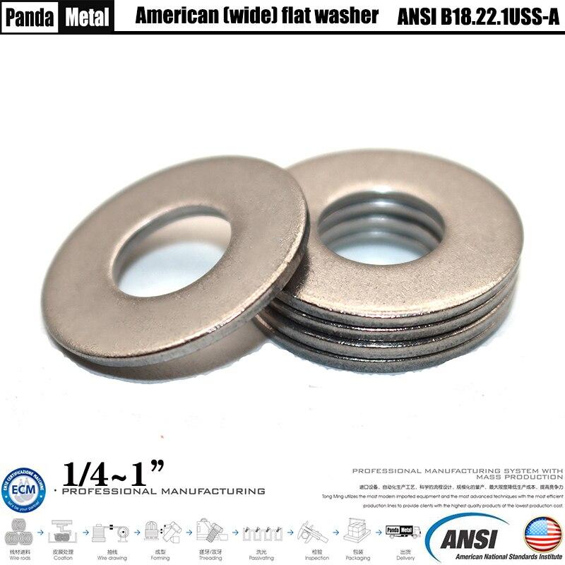 304/316 Stainless Steel American Standard Class A Wide Flat Washer ANSIB18.22.1USS1/4