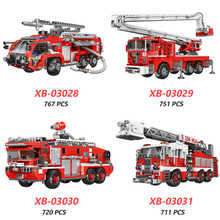 XINGBAO 03028/03029/03030/03031 City Fire Fighting Truck Series 4 Styles Engine Building Blocks Bricks Compatible Legoings