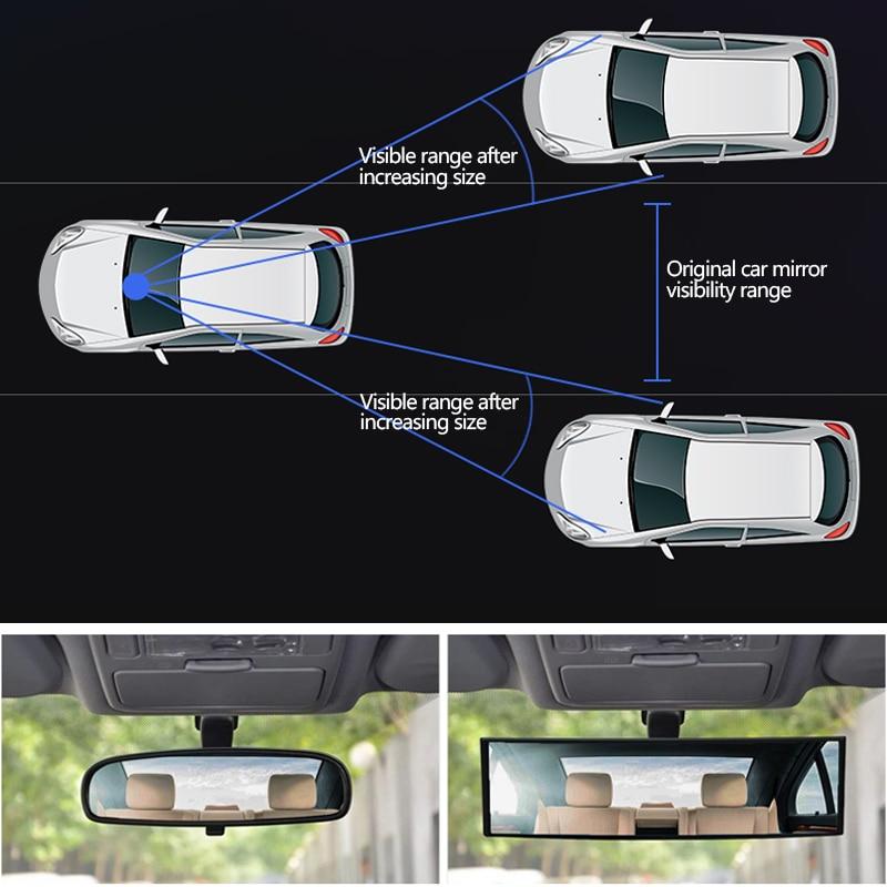Image 5 - Car Mirror Interior Rearview Mirrors Universal Auto Rear View Mirror Anti glare Wide angle Surface Blue Mirror Auto AccessoriesInterior Mirrors   -
