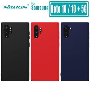 Чехол Nillkin для Samsung Galaxy Note 10, 10 Plus, чехол с резиновой пленкой, жидкий силикон, мягкая сенсорная задняя крышка, чехол для телефона Nilkin