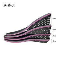 Стельки с эффектом памяти, увеличивающие рост стельки для мужчин и женщин, невидимые увеличивающие подъемные вставки для обуви, увеличиваю...