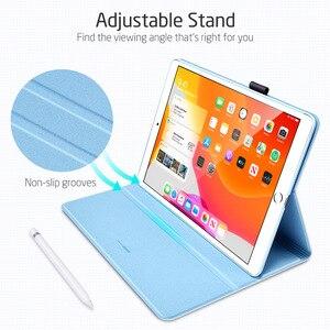 Image 5 - Чехол для iPad ESR с одним открытым типом, подставка с разными углами и держателем для карандашей для iPad 10,2 дюйма (7 е поколение)