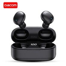 DACOM U7 TWS 블루투스 이어 버드 5.0 진정한 무선 스테레오 이어폰 HiFi 미니 TWS Earpieces 블루투스 이어폰 for iPhone Samsung