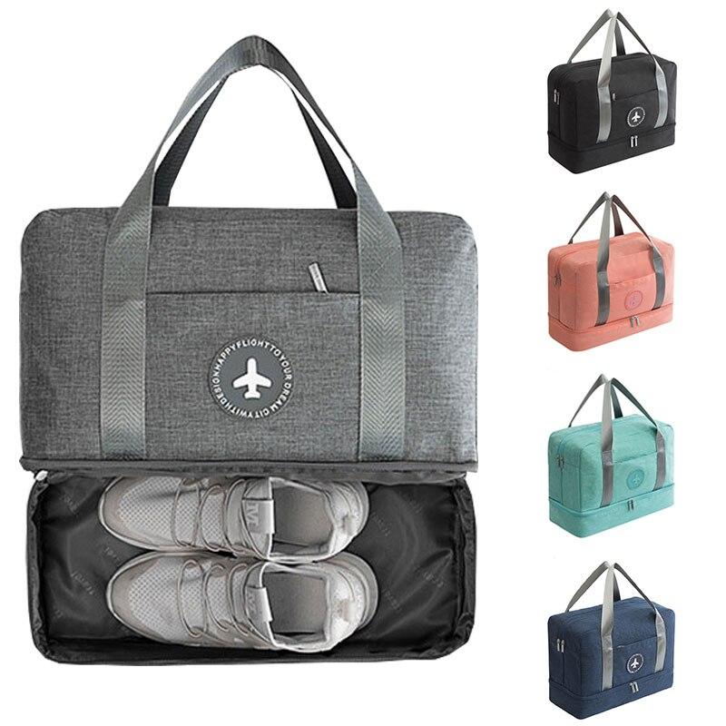 Fashion Duffle Travel Bag Dry And Wet Separation Package Waterproof Men Sports Bag Folding Portable Clothing Women Beach Bag