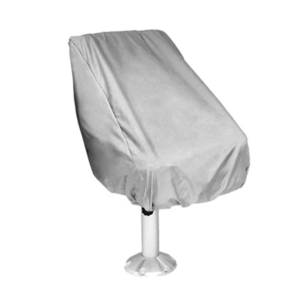 Elastic Closure Waterproof Outdoor Helmsman Yacht Boat Seat Cover Captain Chair Furniture Foldable UV Resistant Protection Dust
