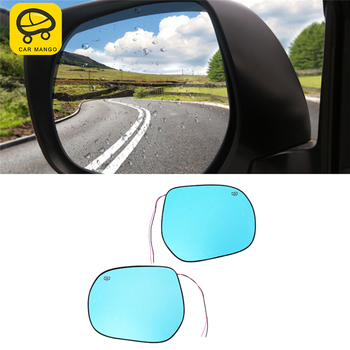 CARMANGO Car Rearview Mirror Rainproof Heating Replacement Parts Protective Glass Mirror for Toyota Land Cruiser 200 2016-2018