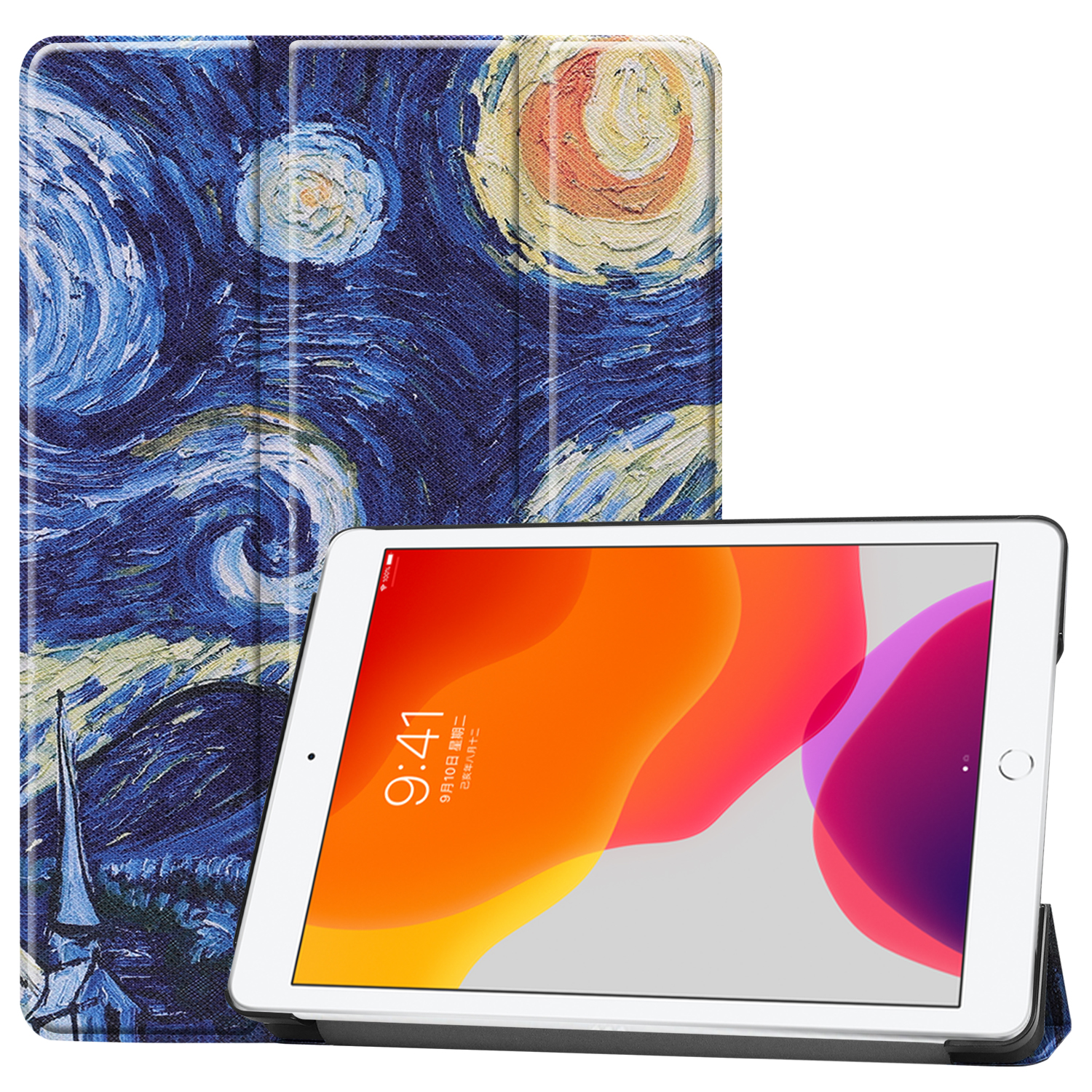 Magnetic iPad/8th/Cas iPad for Case Sleep 8-8th-Generation Apple A2428/a2429 Smart-Cover