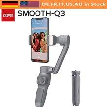 Zhiyun Smooth Q3มือถือสมาร์ทโฟน3แกน Gimbal Stabilizer กับ Grip ขาตั้งกล้อง Vlog ใช้งานร่วมกับ iPhone 12 11 PRO MAX X XR XS