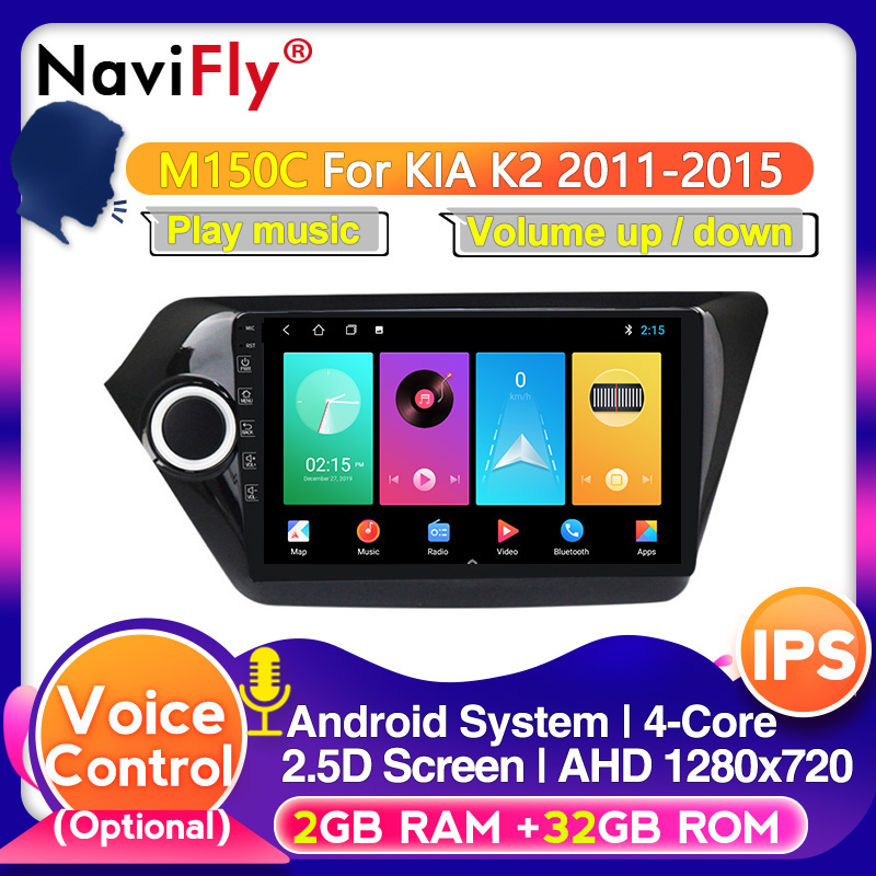 2Din Android 10.0 IPS DSP 64G ROM 4G RAM Car Multimedia for KIA K2 RIO 3 4 2011-2018 Autoradio 4G LTE wifi BT DVR mirror link image