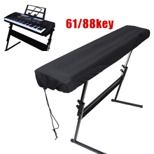 Black Piano Keyboard Dust Cleaning Cloth For 61-Key Electronic Cover