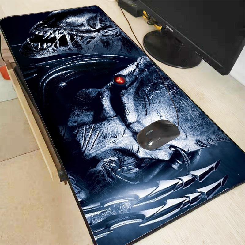 XGZ Large Size Predator Warrior Movie Mouse Pad Office Computer Gaming Mousepad Rubber Locking Edge Keyboards Desk Mat For CSGO