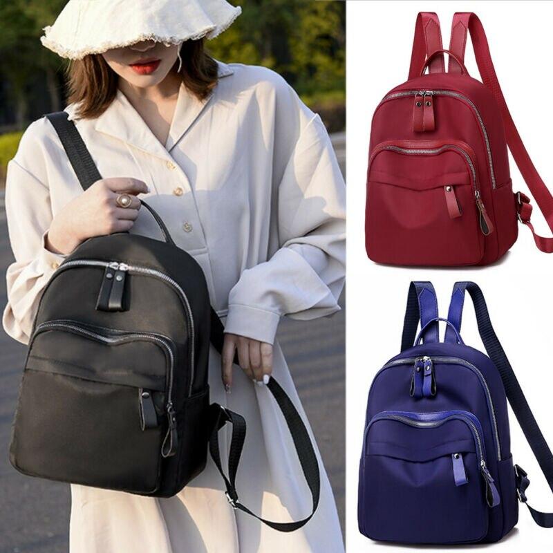 Women Lady Backpack Purse Rucksack Waterproof Oxford School Bag Travel Satchel