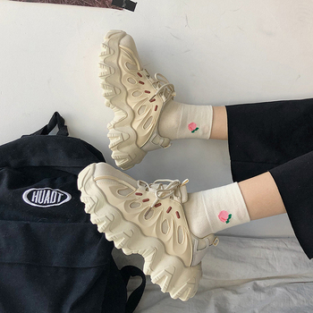 Black Shoes Woman Sneakers Tennis with Platform Sneakers Women Shoes Thick Bottom Casual Sneaker Woman Fashion 2021 New Baskets