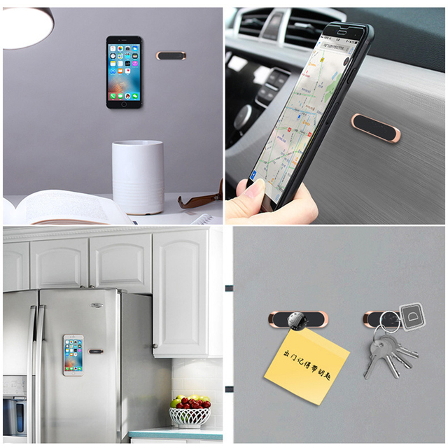 Mini Strip Shape Magnetic Car Phone Holder for iPhone Huawei Samsung Flat Wall Metal Magnetic Car GPS Dashboard Mount Holder 3