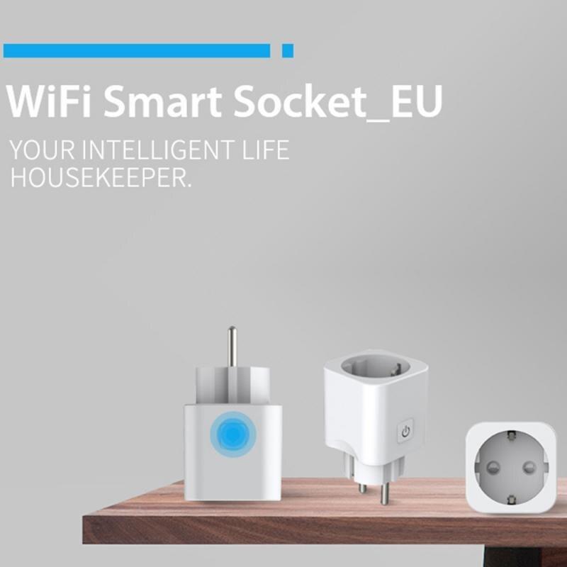 Штепсельная Вилка европейского стандарта умная розетка мини WI-FI розетка Smart Home Управление IFTTT гнездо телефона переключатель времени eWeLink с ...