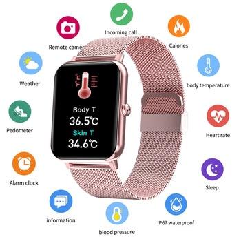 LIGE 2021 New Full Touch Screen Smart Watch Women Sports Heart Rate Waterproof Fitness Smart Watches Women's Smartwatch relogio 1