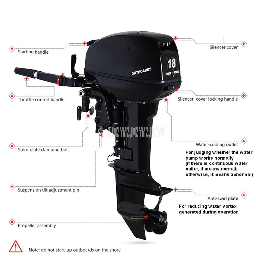 2-Stroke 3.5 Horsepower Boat Engine Steering Adjustment for Hangkai