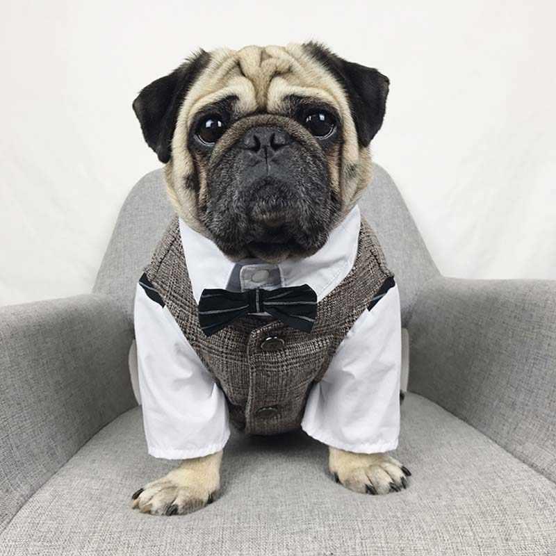 Formale Vestiti Del Cane Bulldog Francese Gli Animali Domestici I Cani Vestiti Per Le Medie Cane di Grandi Dimensioni Costume Da Sposa Pet Vestiti Per I Cani Vestito Ropa perro