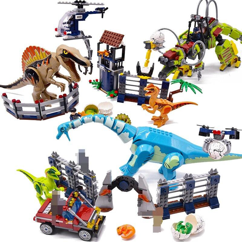Jurassic World Brutal Raptor Building Blocks Jurrassic World 2 Dinosaur Figure Brick Compatible Legoinglys Toy For Children Dino