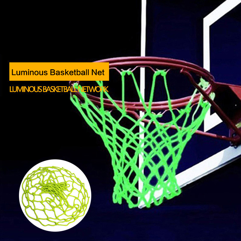 1pcsLuminous Basketball Net Standard Nylon Basketball Net Thread Sports Basketball Hoop Mesh 12 Loops Field Recreation Equipment