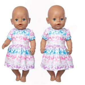 Новинка 2021, Одежда для кукол, подходит для кукол 17 дюймов 43 см, одежда для новорожденных, костюм для малышей, подарок на день рождения|Куклы|   | АлиЭкспресс